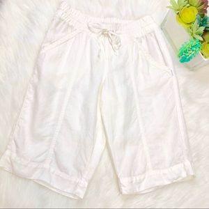 Athleta White Linen City shorts size 2